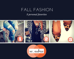 Staple Items For Fall